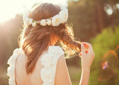 Acconciatura Sposa con Fiori